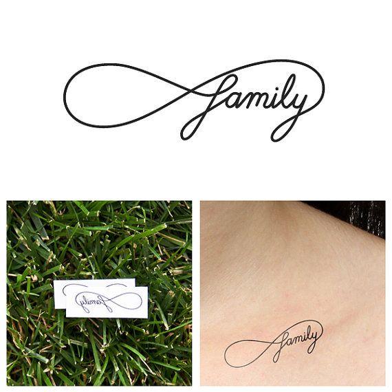 Infini  famille  tatouage temporaire ensemble de 2 par Tattify