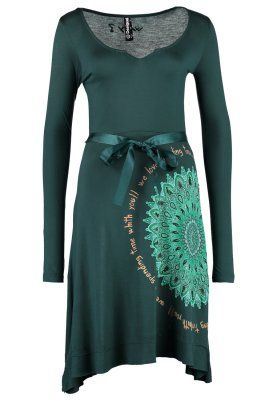 Unique jerseykleid deep teal