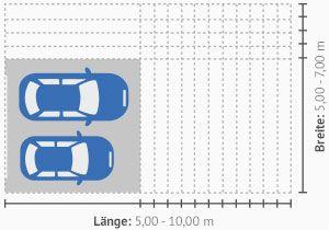 Gängige Breite und Länge einer Großraumgarage