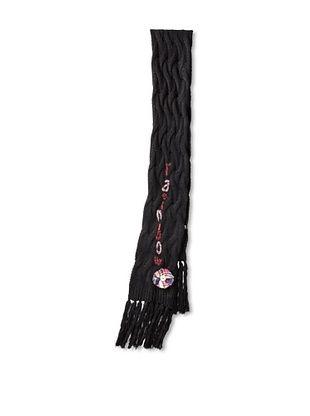 Desigual Women's Flat Knitted Scarf, Negro
