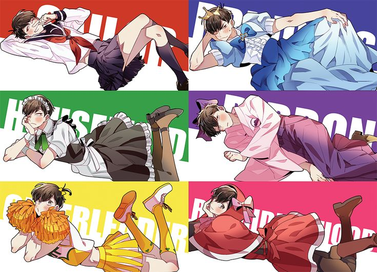Osomatsu-san featuring crossdressing neets who're cute and make me question my tastes