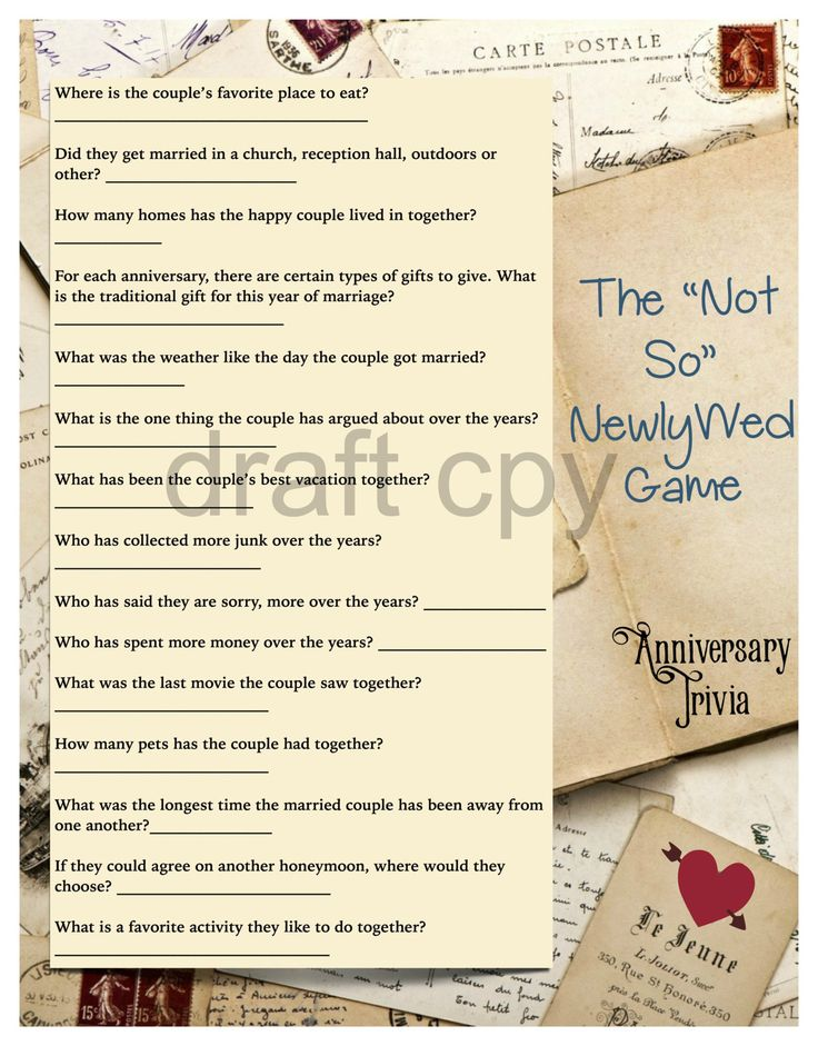 50th wedding anniversary party games