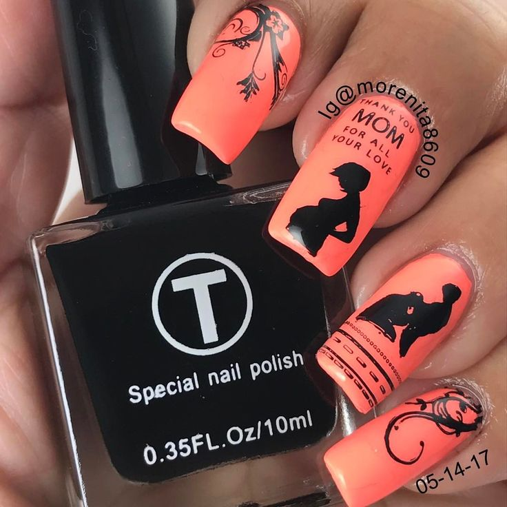 """Being a Mother is not about what you gave up to have a child, but what you've gained from having…""    #mothersday #nailstamping #sexynails #manicure #summernails #manicura"