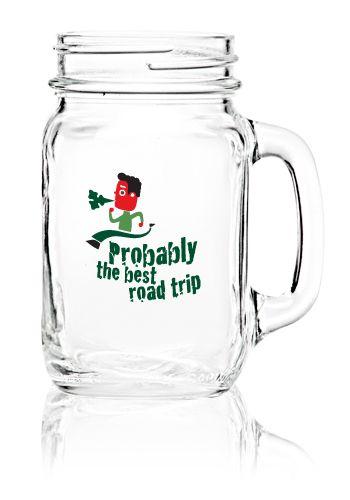 wholesale custom printed mason jars with handles bulk promotional u0026 logo libbey mason - Mason Jar Glasses