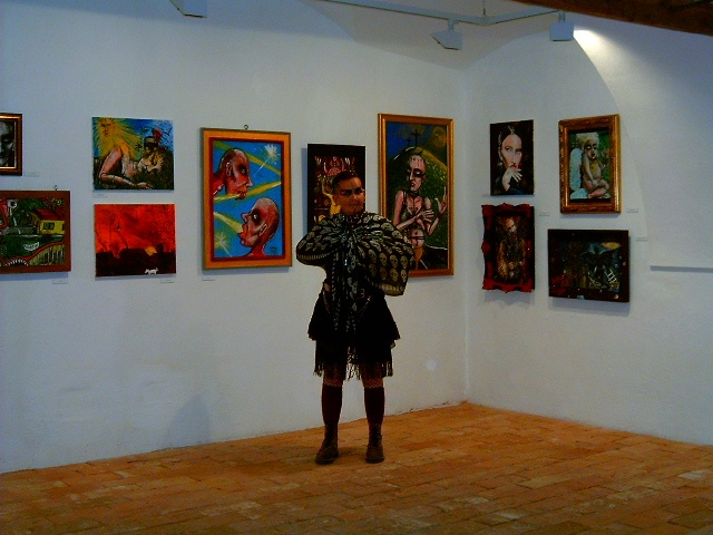 In front of my pix on my exhibition in 2009.