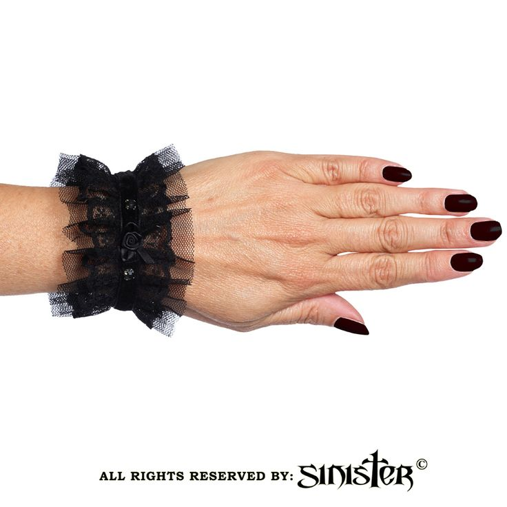 Collection 2015 - Gothic ruffled mesh cuffs by Sinister (A028) www.sinister.nl