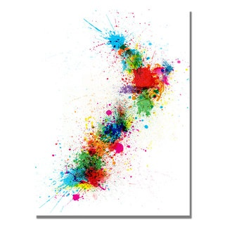 @Overstock - Artist: Michael Tompsett  Title: New Zeland Paint Splashes Map  Product Type: Gallery-wrapped canvas art http://www.overstock.com/Home-Garden/Michael-Tompsett-New-Zealand-Paint-Splashes-Map-Canvas-Art/7569621/product.html?CID=214117 GBP              57.27