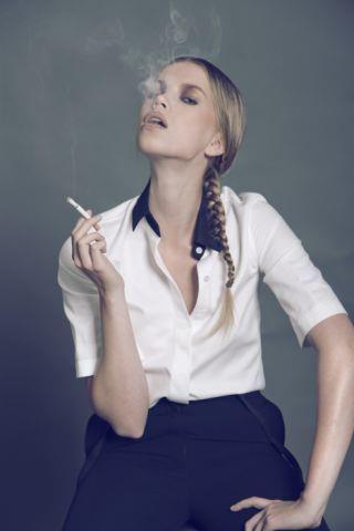Martine Gulliksen fashion modeling work