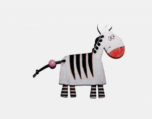 Dřevěná ozdoba- zebra