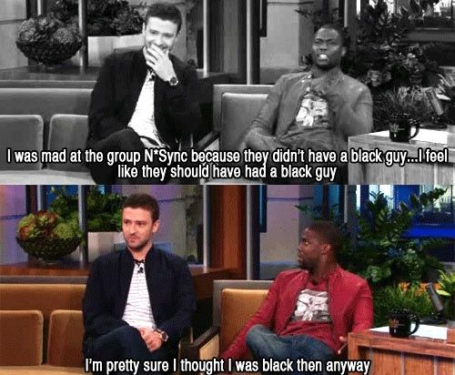 """I'm pretty sure I thought I was black then anyway."""