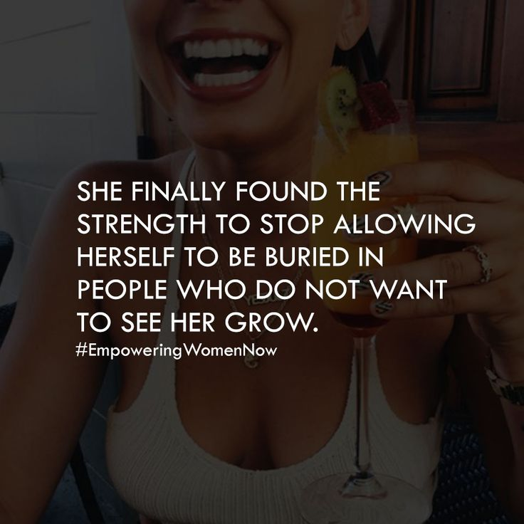 She finally found the strength to stop allowing herself to be burred in people…