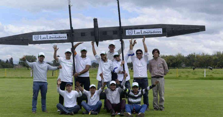 Avión solar colombiano realiza su primer vuelo con éxito -- Foto: Fundación Universitaria Los Libertadores