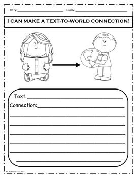 Text-to-World Connection. 10+ graphic organizers