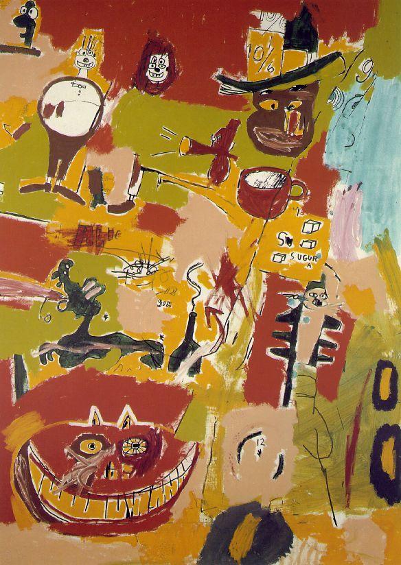 """Wine of Babylon"" (1984) by Jean-Michel Basquiat"