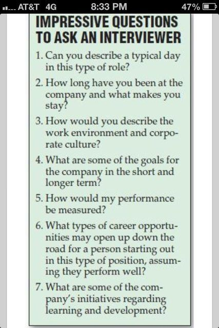 the best job interview questions to ask employers for recent college
