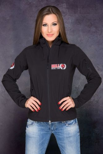 HRT Women Jacket Front in Black