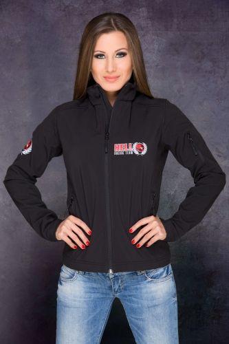 HRT Women Jacket Front in Black
