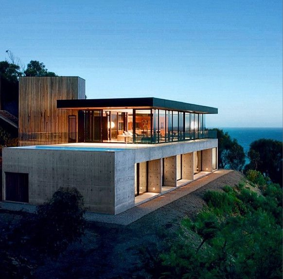 Clifftop house by Tom Berry and Mary Cooke @habitusliving | Great ocean road