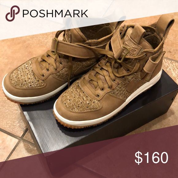 Nike Lunar Force 1 Flyknit Workboot Worn once, still brand new, super light, water resistant shoes that you can dress up or down with. Nike Shoes Sneakers