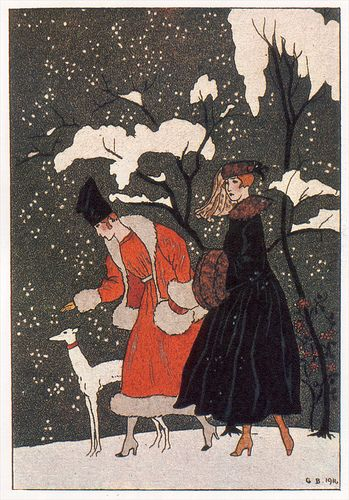 George Barbier winter scene - 1916