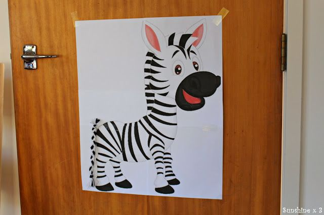 Zebra Party - pin the tail on the zebra