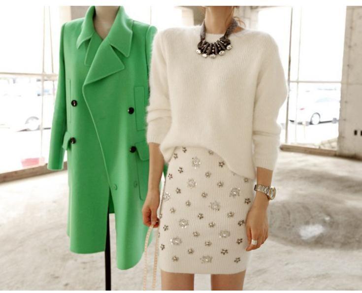 Мода женщин осень и зима душ цветок бисероплетение блестка трикотажные высокая талия юбка тонкий хип юбка юбка до середины бедра, принадлежащий категории Юбки и относящийся к Одежда и аксессуары на сайте AliExpress.com | Alibaba Group