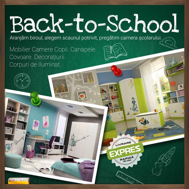 #BackToSchool ✔Mobilier camere copii ✔Canapele ✔Covoare ✔Decorațiuni ✔Corpuri de iluminat