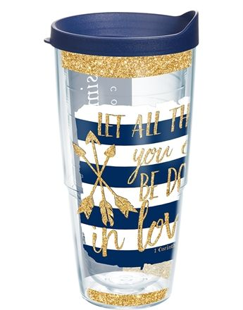 Simply Southern® Quote Sparkle Wrap With Lid - 24oz tumbler
