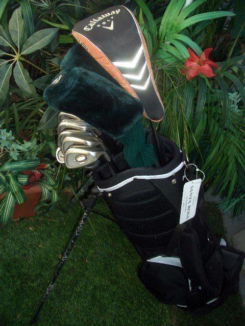 Polished Callaway Golf Club Set Driver Irons Wedge Putter New Bag Nike Balls