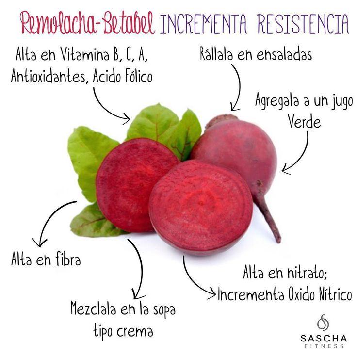 """""""La remolacha o betabel es un super alimento, es un vegetal denso en nutrientes, contiene vitamina A, B, C, antioxidantes como betacaroteno, ácido fólico,…"""""""