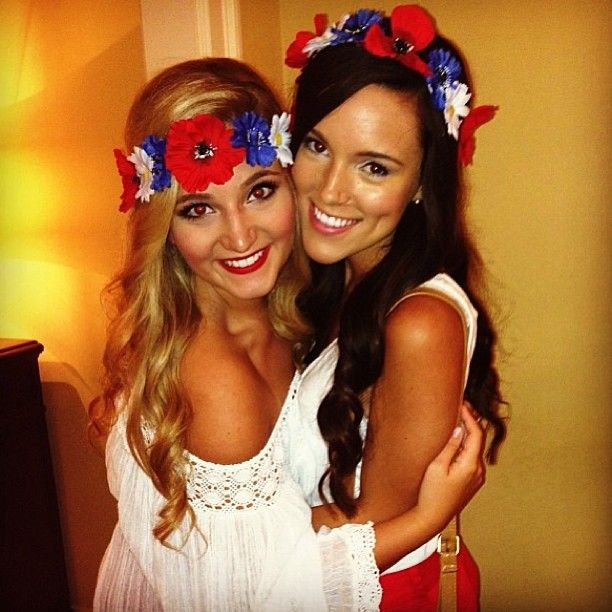adorable american theme with flower headbands!