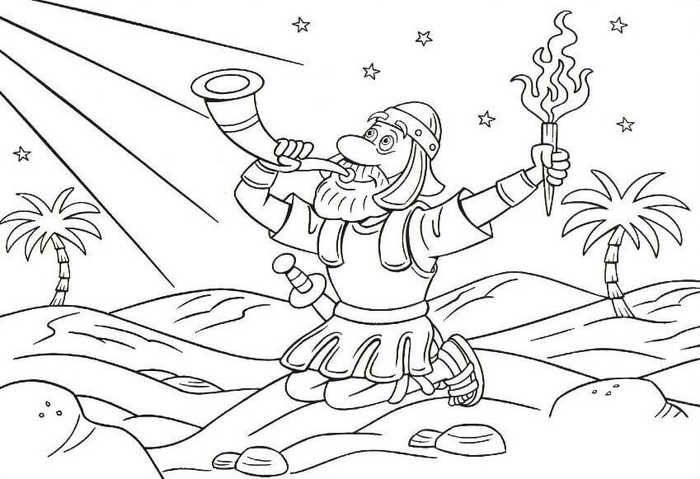 God S Engel Roept Gideon Bible Coloring Pages Bible Crafts