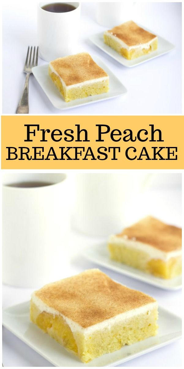 Fresh Peach Breakfast Cake recipe from RecipeGirl.com