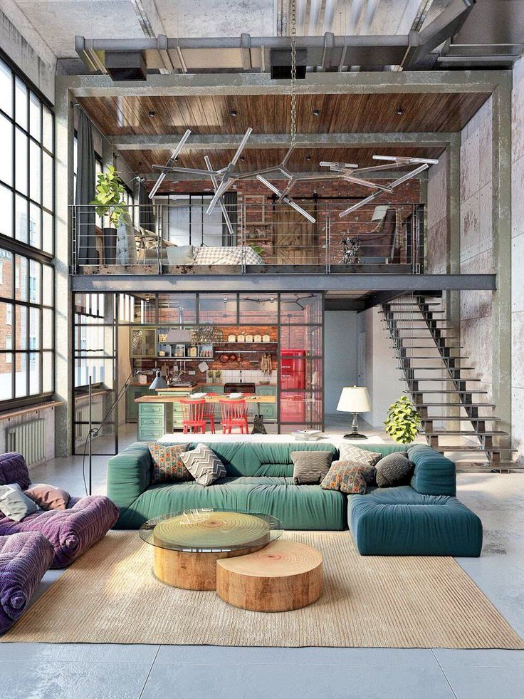 Check out what they did here, it's one of the first Mezzanine loft bedroom ideas on the list. They obviously have some really high ceilings and didn't want to waste any of the space so they created a loft. This loft area is perfect for having your own relaxation station rather than using your bed.   #MezzanineFloor #MezzanineFloorsDesign #MezzanineLoft