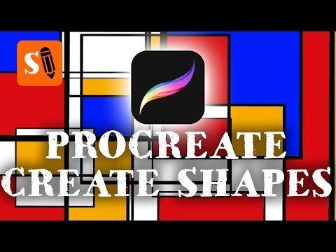 Procreate iPad Pro How to Create Shapes with Shape Brushes - YouTube