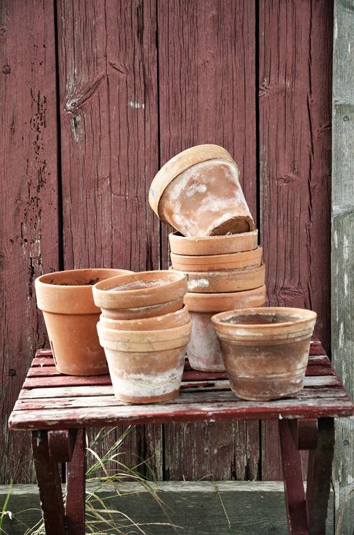 Terracotta hues