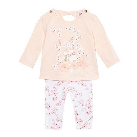 Baker by Ted Baker Baby girls' pink floral print top and leggings | Debenhams