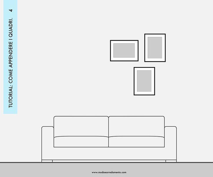Decorare le pareti del soggiorno con foto e quadri: composizione 4 - idee da copiare.