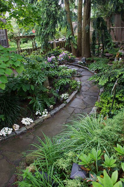 Stone path edged with cobble