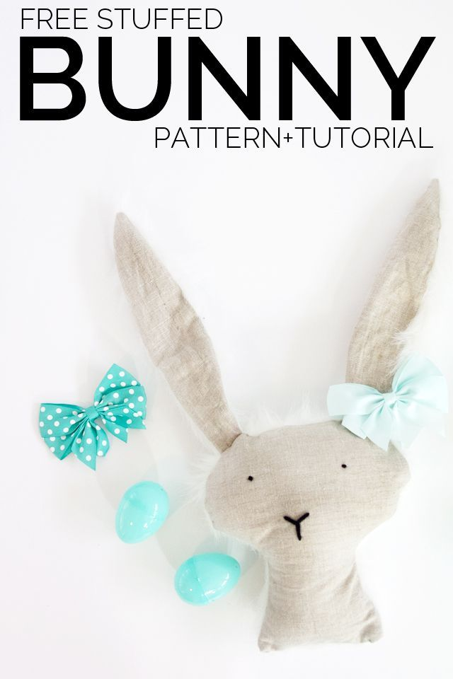 Stuffed Bunny Pattern : stuffed, bunny, pattern, Bunny, Pattern, Sewing, Projects, Beginners,, Projects,