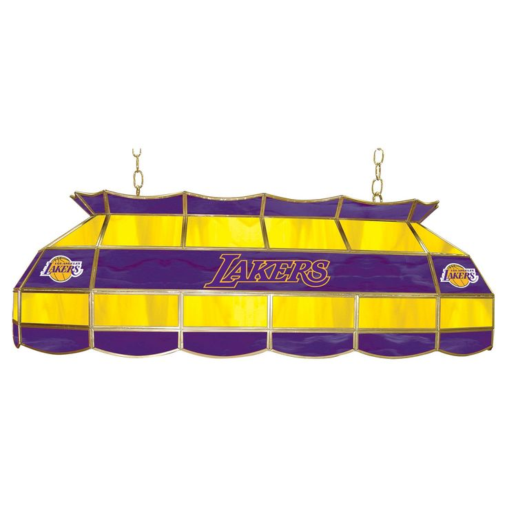 Los Angeles Lakers Tiffany Style Lamp - 40 inch