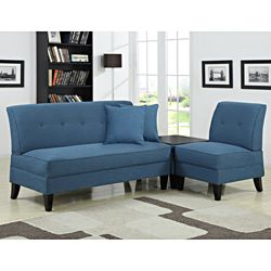 @Overstock - The Engle 3-piece transitional grouping is part of the Portfolio Furniture Collection. The Engle collection includes an armless loveseat, chair and ottoman all covered in a caribbean blue linen and features a no tools locking system for easy assembly.http://www.overstock.com/Home-Garden/Portfolio-Engle-Caribbean-Blue-Linen-3-piece-Sofa-Set/6530105/product.html?CID=214117 $729.99
