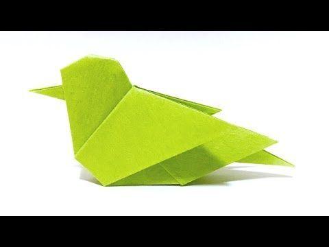 ORIGAMI LITTLE BIRD (sakusaku858) - YouTube