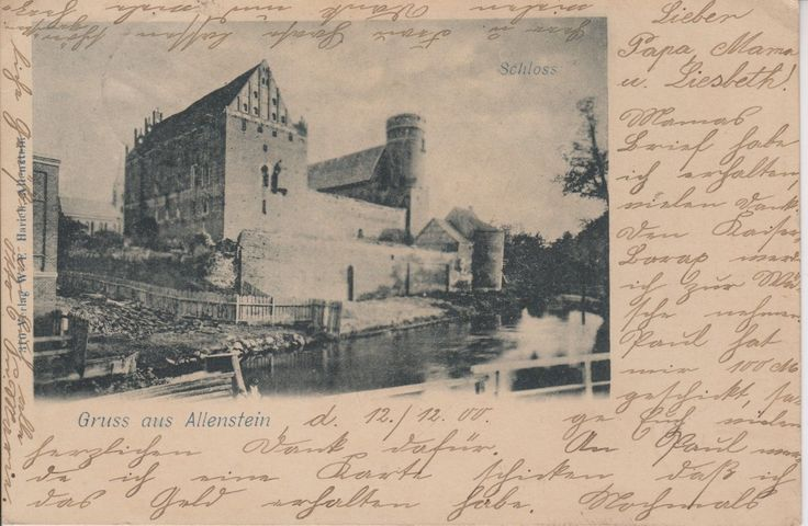 Olsztyn-Allenstein,Ostpreussen, Schloss 1900
