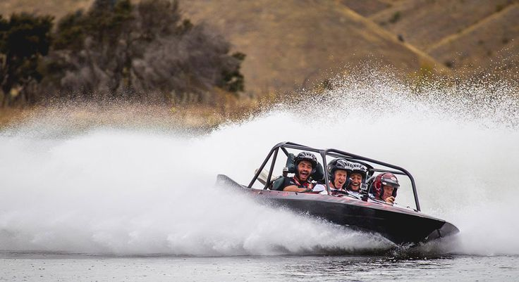 Oxbow The Adventure Company... This speed demon is the only custom built 4-seater Jet Sprint boat in New Zealand, and guarantees to make a 'screamer' out of everyone it has the pleasure of meeting. Accelerating at an incredible 0 to 100km in only 2.5 seconds your expert jet sprint boat driver will negotiate you around Oxbow's very own Aqua-Track before you've had a moment to catch your breath.