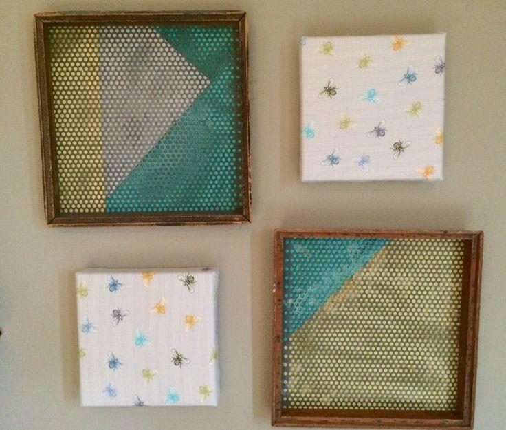Fresh Nursery Wall Art Ideas: Decoupage, Glue, Sew and Staple