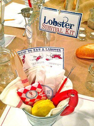 jaala | Rentals Lobster Survival Kit 40th Lobster Shack Birthday Party