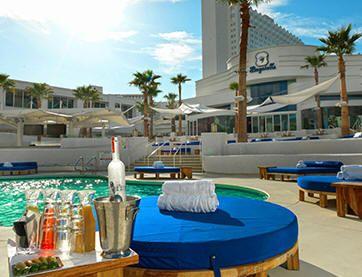 images of the Las Vegas Palace Hotel's pools | Bagatelle Beach Club - Tropicana Las Vegas Beach Club