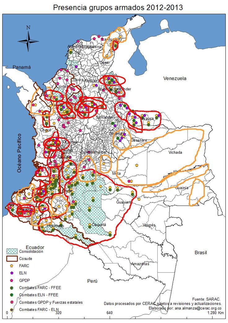 Mapa Presencias y Combates