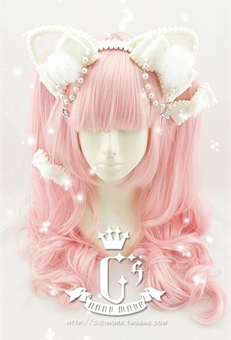 Cute cat ear Lolita hair accessory from ciciwork.taobao.com I need to make these!!